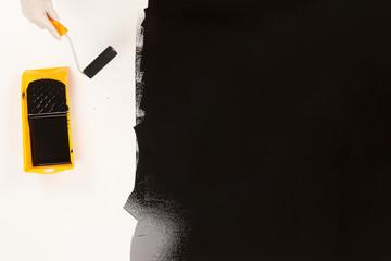 Rolling Black Paint