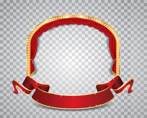 red circle ellipse transparent