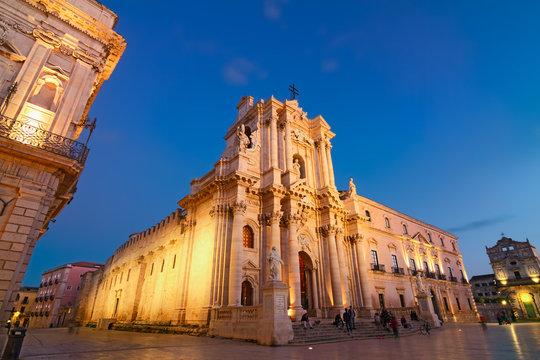 Blue Hour Piazza Duomo 3 - Syracuse - Unesco World Heritage