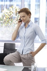 Businesswoman on phone call