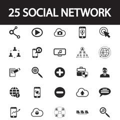 social network set icon