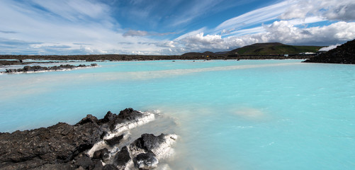 Geothermal lagoon, south of Iceland