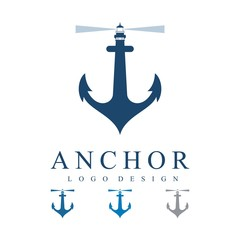 Lighthouse on The Anchor Logo Design