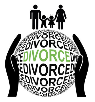 Amicable and peaceful Divorce. Couple separates by mutual agreement to their advantage
