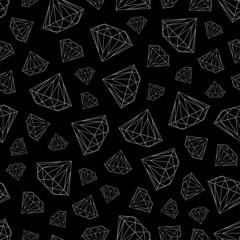 black pattern with diamonds