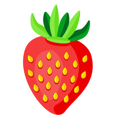 sweet strawberry vector illustration