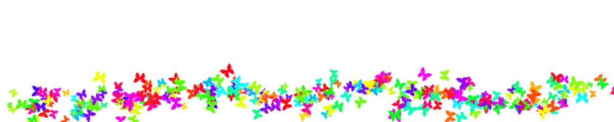 Schmetterlinge auf weißem Hintergrund