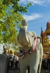 Elephants at the Phuket lighthouse temple