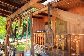 rustic interior in a wooden house