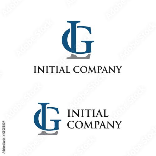 initial letter logo LG