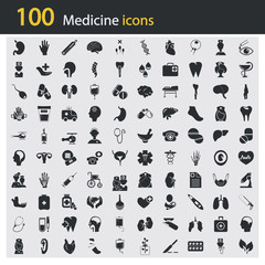 Set of one hundred medicine icons