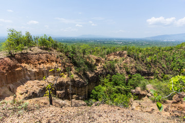 Doi Tok grand canyon in Mae Wang national park, Chiangmai Thaila
