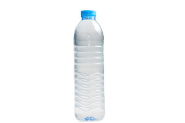 Clean drinking water in bottles isolate on white