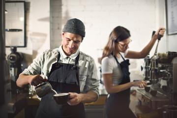 Barista Parepare Coffee Working Order Concept