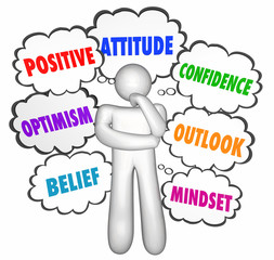 Positive Thinking Thought Clouds Thinker Good Attitude Confidenc