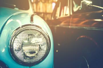 Fond de hotte en verre imprimé Vintage voitures Headlight lamp vintage car