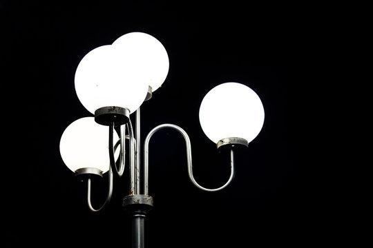 Lamp posts backdrop