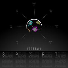 Football Soccer Black Freehand Sketch Sparse Graphic Design Vector Illustration EPS10