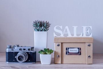 Home decorative set of photo album and flowers