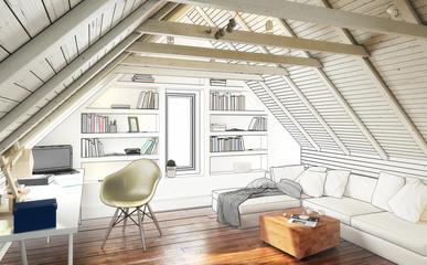Dach-Apartment (Entwurf)