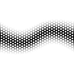 Background with gradient of black and white hexagons