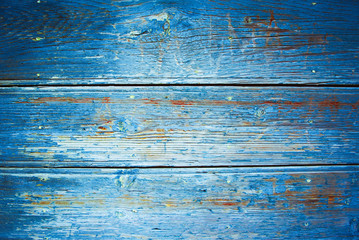 textured old wooden blue