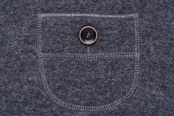 Pocket with button of casual gray skirt