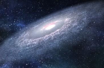 Big Spiral Galaxy - 3D Rendered Digital Illustration
