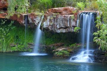 Waterfalls at Fern Pool in Karijini National Park, Australia