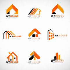 Home Service And Repairs Logo Vector Set Design Buy This