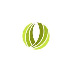 green circle abstract logo