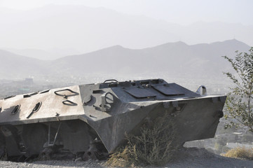 Destroyed Tank Kabul