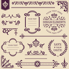 Vector vintage design elements.