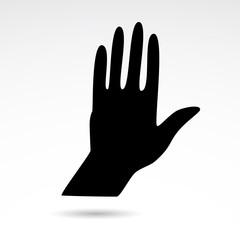 Human hand vector icon.
