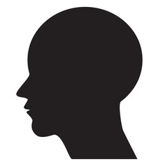 Human head - vector icon.