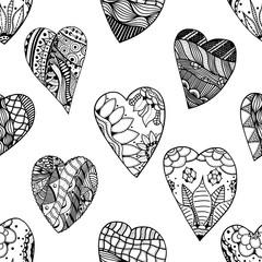hand-drawn seamless pattern.