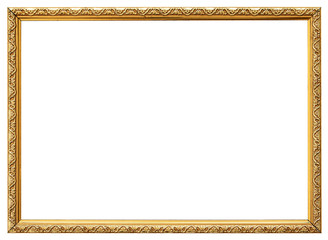 Wood vintage frame isolated on white. Wood frame simple design.