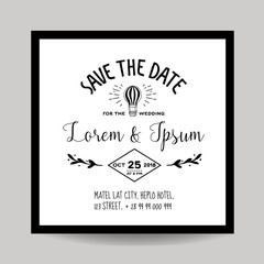 Wedding Invitation Card - Save the Date - Air Balloon Theme