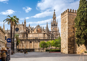 Photo sur Plexiglas Monument Seville Cathedral. Spain. It is the largest Gothic cathedral and the third-largest church in the world.