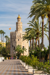 Torre del Oro (Tower of gold) in Seville. Spain.