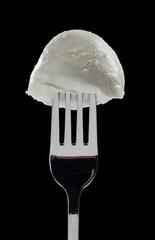 Mozzarella sulla forchetta