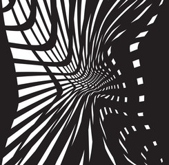 optical art background black and white, op-art black and white abstract