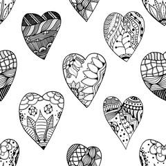 Zentangle ornamental heart