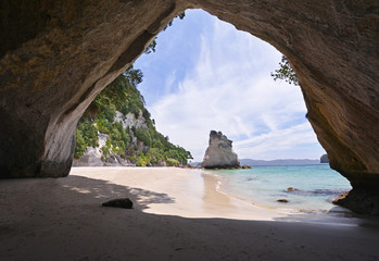 Foto op Plexiglas Cathedral Cove Cathedral Cove beach on Coromandel Peninsula