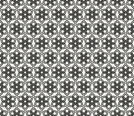 Abstract, modern background, islamic geometric seamless pattern