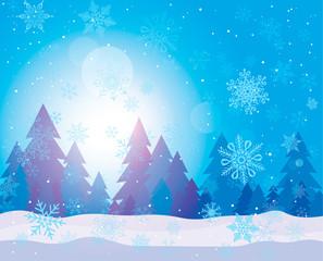 Winter background. Vector illustration.
