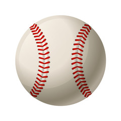 Vector illustration. Leather baseball ball isolated on a white background