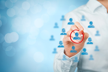 Marketing segmentation and leader recruit