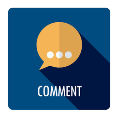 COMMENT Flat Style Vector Web Button