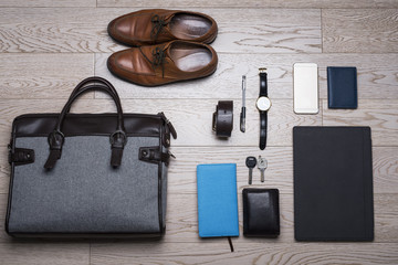 flat lay-list for working